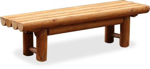 木製丸太ベンチ